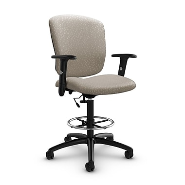 Global® (5338-6 MT20) Supra-X Drafting Task Chair, Match Desert Fabric, Tan