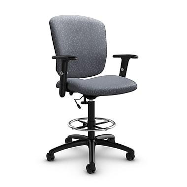 Global® (5338-6 MT30) Supra-X Drafting Task Chair, Match Grey Fabric, Grey