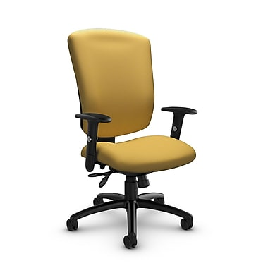 Global® (5333-3 IM73) Supra-X Multi Tilter Chair, Imprint Currie Fabric, Yellow