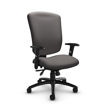 Global® (5333-3 IM82) Supra-X Multi Tilter Chair, Imprint Graphite Fabric, Grey