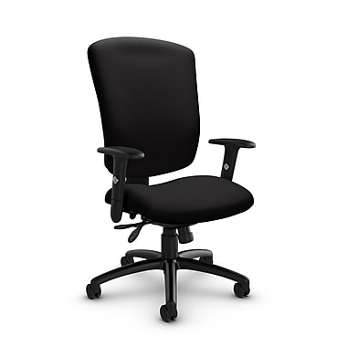 Global® (5333-3 IM84) Supra-X Multi Tilter Chair, Imprint Licorice Fabric, Black