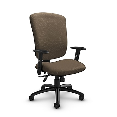 Global® (5333-3 MT21) Supra-X Multi Tilter Chair, Match Sand Fabric, Brown