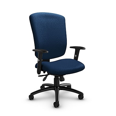 Global® (5333-3 MT26) Supra-X Multi Tilter Chair, Match Wave Fabric, Blue