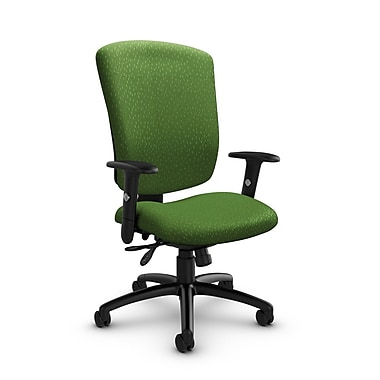 Global® (5333-3 MT27) Supra-X Multi Tilter Chair, Match Green Fabric, Green