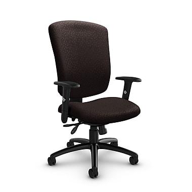 Global® (5333-3 MT28) Supra-X Multi Tilter Chair, Match Chocolate Fabric, Brown