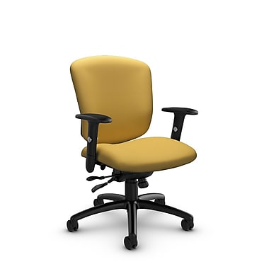 Global® (5336-1 IM73) Supra-X Synchro Tilter Chair, Imprint Currie Fabric, Yellow
