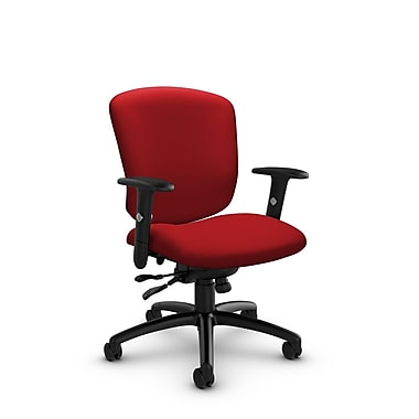 Global® (5336-1 IM74) Supra-X Synchro Tilter Chair, Imprint Candy Apple Fabric, Red