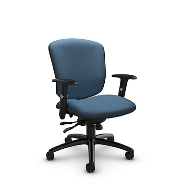 Global® (5336-1 IM75) Supra-X Synchro Tilter Chair, Imprint Ocean Fabric, Blue
