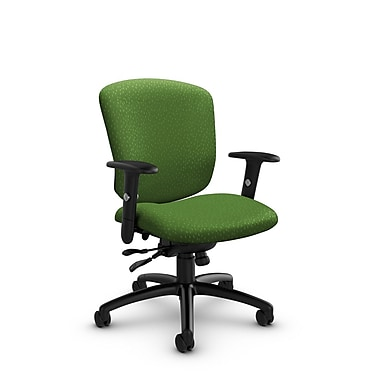 Global® (5336-1 MT27) Supra-X Synchro Tilter Chair, Match Green Fabric, Green