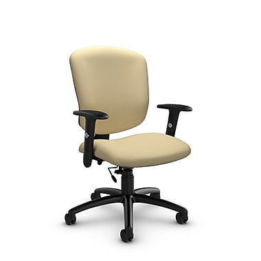 Global® (5336-6 IM70) Supra-X Task Chairs, Imprint Almond Fabric, Tan