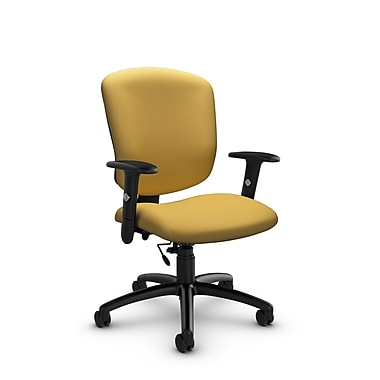 Global® (5336-6 IM73) Supra-X Task Chair, Imprint Currie Fabric, Yellow