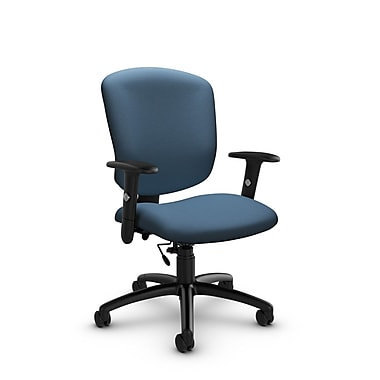 Global® (5336-6 IM75) Supra-X Task Chair, Imprint Ocean Fabric, Blue