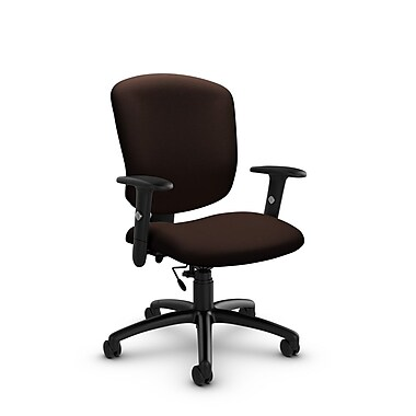Global® (5336-6 IM80) Supra-X Task Chair, Imprint Walnut Fabric, Brown