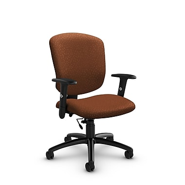 Global® (5336-6 MT24) Supra-X Task Chair, Match Sunset Fabric, Orange