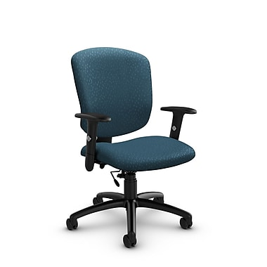 Global® (5336-6 MT33) Supra-X Task Chair, Match Arctic Fabric, Blue