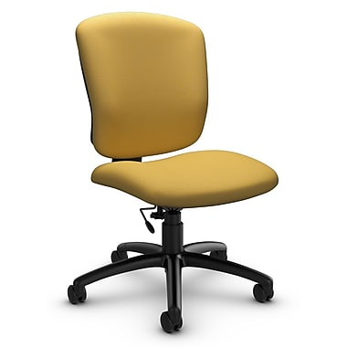 Global® (5337-6 IM73) Supra-X Armless Task Chair, Imprint Currie Fabric, Yellow