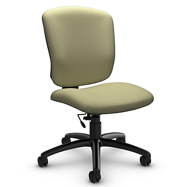 Global® (5337-6 IM77) Supra-X Armless Task Chair, Imprint Green Tea Fabric, Green