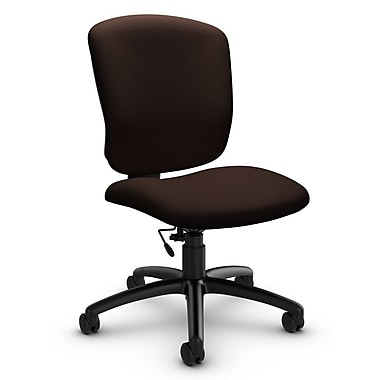 Global® (5337-6 IM80) Supra-X Armless Task Chair, Imprint Walnut Fabric, Brown