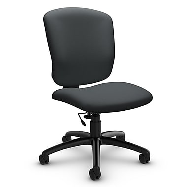 Global® (5337-6 IM83) Supra-X Armless Task Chair, Imprint Slate Fabric, Grey