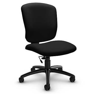 Global® (5337-6 IM84) Supra-X Armless Task Chair, Imprint Licorice Fabric, Black