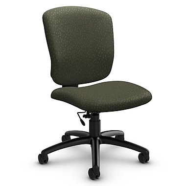 Global® (5337-6 MT22) Supra-X Armless Task Chair, Match Moss Fabric, Green