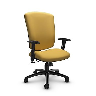 Global® (5333-4 IM73) Supra-X Tilter Chair, Imprint Currie Fabric, Yellow