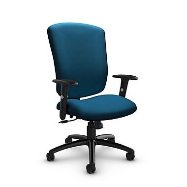 Global - cahiers (5333-4 IM76) supra-X fauteuil inclinable, tissu à imprimé bleu marine, bleu