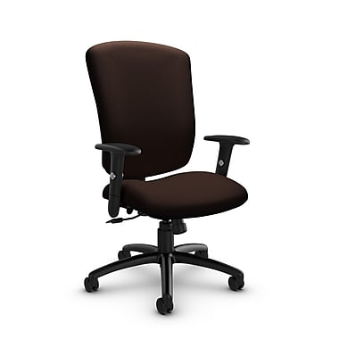 Global® (5333-4 IM80) Supra-X Tilter Chair, Imprint Walnut Fabric, Brown