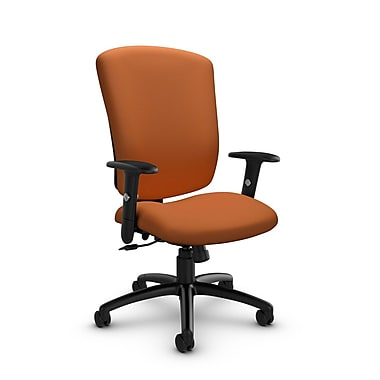 Global® (5333-4 IM81) Supra-X Tilter Chair, Imprint Paprika Fabric, Orange