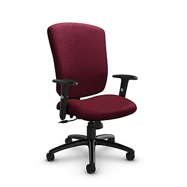 GlobalMD – Fauteuil basculant Supra-X (5333-4 MT29), tissu assorti bordeaux, rouge