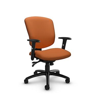 Global® (5336-3 IM81) Supra-X Multi Tilter Chair, Imprint Paprika Fabric, Orange