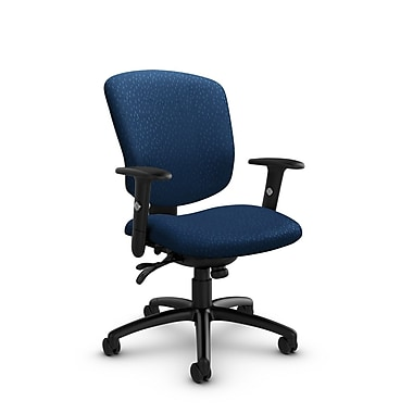 Global® (5336-3 MT26) Supra-X Multi Tilter Chair, Match Wave Fabric, Blue