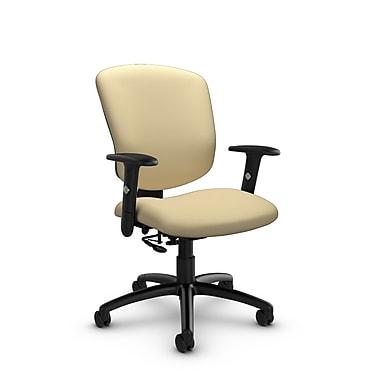 GlobalMD – Fauteuil ergonomique Supra-X (5336-7 IM70), tissu imprimé amande, brun clair