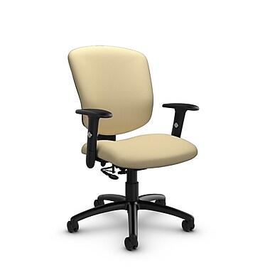 Global® (5336-7 IM70) Supra-X Posture Chair, Imprint Almond Fabric, Tan