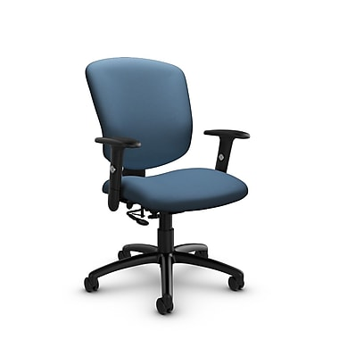 Global® (5336-7 IM75) Supra-X Posture Chair, Imprint Ocean Fabric, Blue