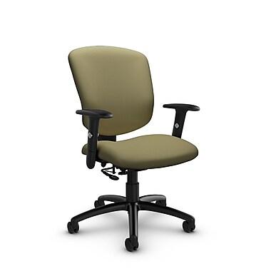 GlobalMD – Fauteuil ergonomique Supra-X (5336-7 IM79), tissu imprimé origan, vert
