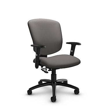 Global® (5336-7 IM82) Supra-X Posture Chair, Imprint Graphite Fabric, Grey