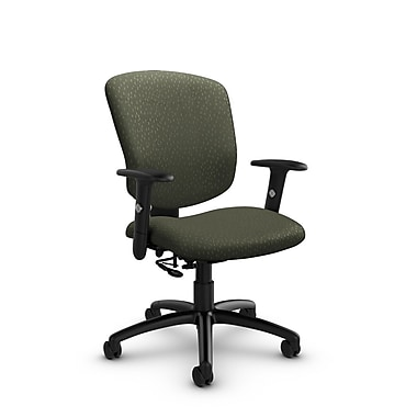 Global® (5336-7 MT22) Supra-X Posture Chair, Match Moss Fabric, Green