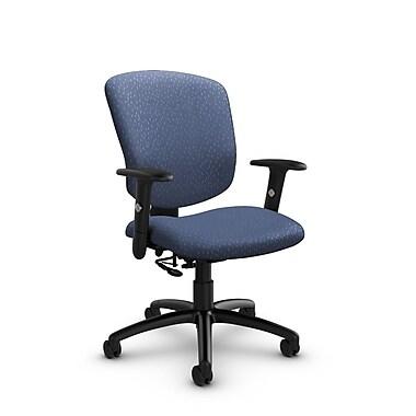 GlobalMD – Fauteuil ergonomique Supra-X (5336-7 MT25), tissu assorti, bleu