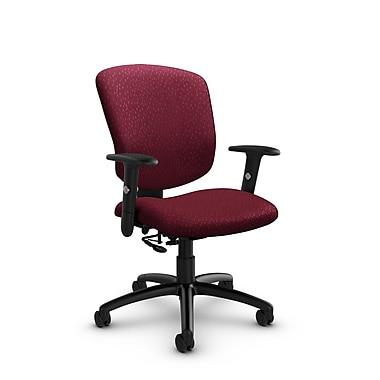 GlobalMD – Fauteuil ergonomique Supra-X (5336-7 MT29), tissu assorti bordeaux, rouge