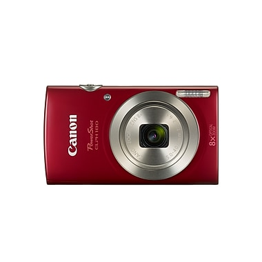 Canon PowerShot ELPH 180 Digital Camera, 20.0 MP, 8x Optical Zoom, Red, (1096C001)