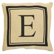 Park B Smith Ltd Vintage House Monogram Throw Pillow; E
