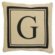 Park B Smith Ltd Vintage House Monogram Throw Pillow; G