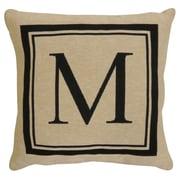 Park B Smith Ltd Vintage House Monogram Throw Pillow; M