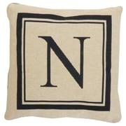 Park B Smith Ltd Vintage House Monogram Throw Pillow; N