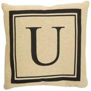 Park B Smith Ltd Vintage House Monogram Throw Pillow; U