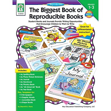 eBook: Key Education 804064-EB The Biggest Book of Reproducible Books, Grade 1 - 3