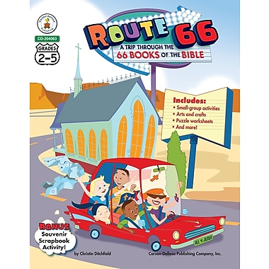 eBook: Christian 204063-EB Route 66: A Trip through the 66 Books of the Bible, Grade 2 - 5