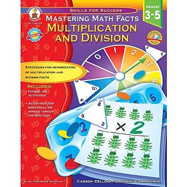Livre numérique : Carson-Dellosa� -- Mastering Math Facts 104170-EB, 3e à 5e année