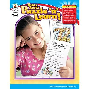 Livre numérique : Bible Story Puzzle 'n' Learn! 204071-EB, livre chrétien, 3e et 4e année